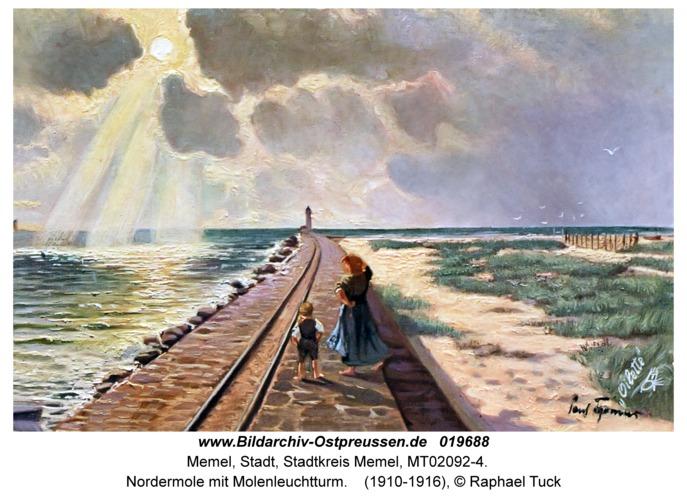 Memel, Nordermole mit Molenleuchtturm