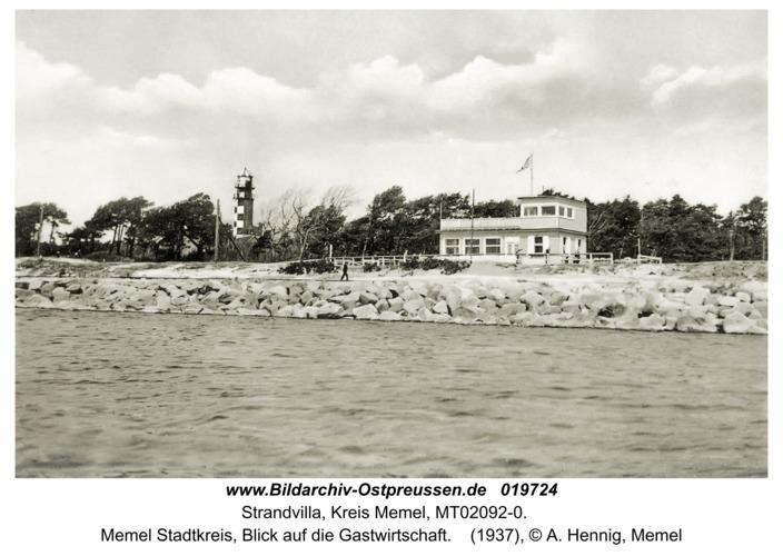 Memel, Blick auf Strandvilla