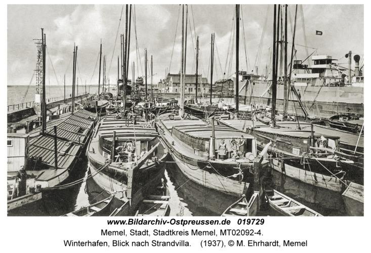 Memel, Winterhafen, Blick nach Strandvilla