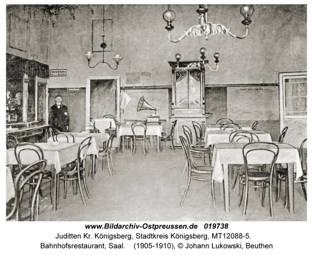 Juditten Kr. Königsberg, Bahnhofsrestaurant, Saal