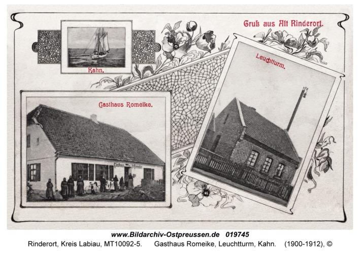 Rinderort, Gasthaus Romeike, Leuchtturm, Kahn