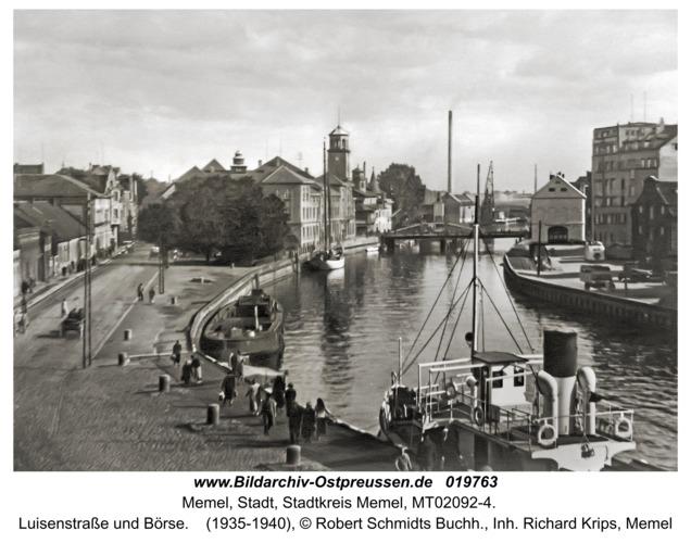 Memel, Luisenstraße und Börse
