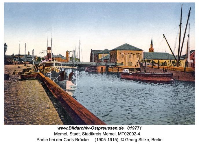 Memel, Partie bei der Carls-Brücke