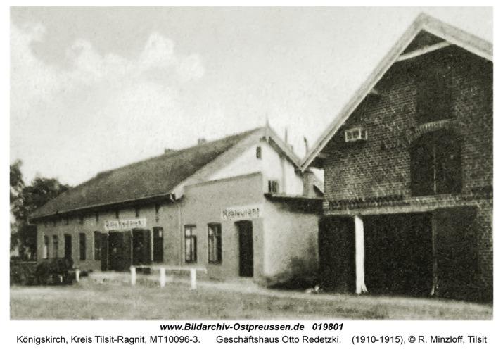 Jurgaitschen Kr. Tilsit-Ragnit, Geschäftshaus Otto Redetzki