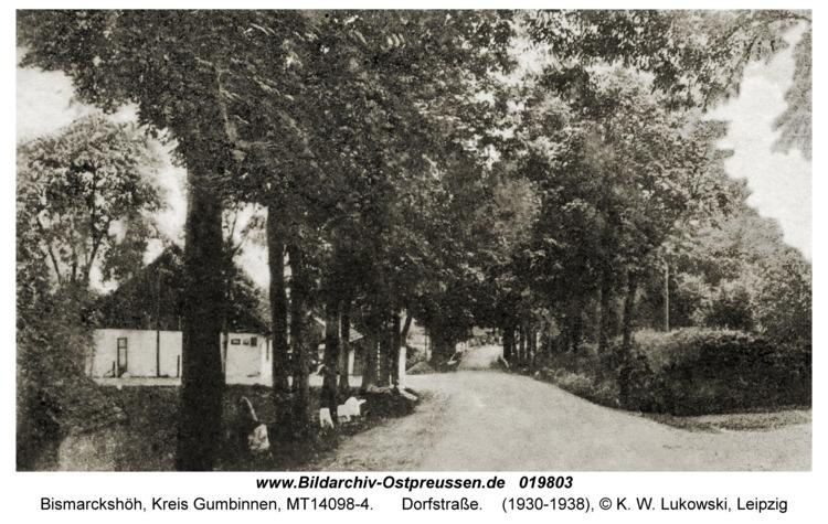 Kallnen Kr. Gumbinnen, Dorfstraße