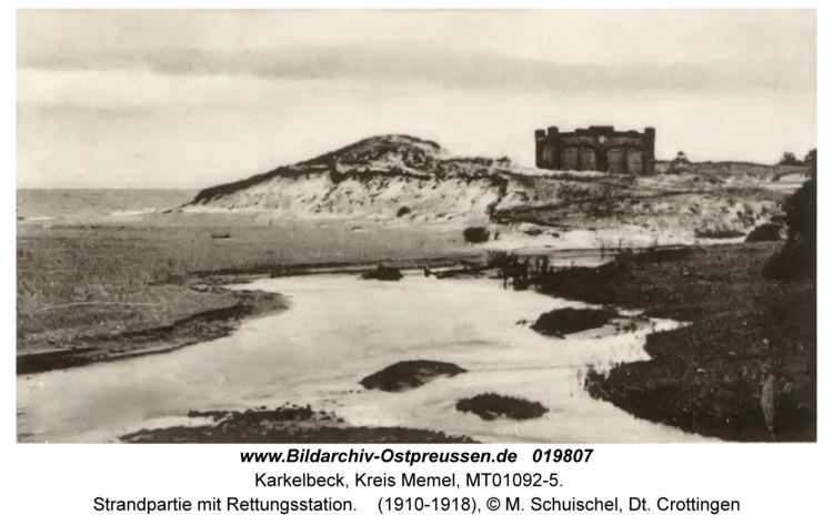 Karkelbeck, Strandpartie mit Rettungsstation