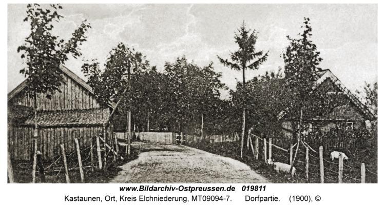 Kastaunen Kr. Elchniederung, Dorfpartie