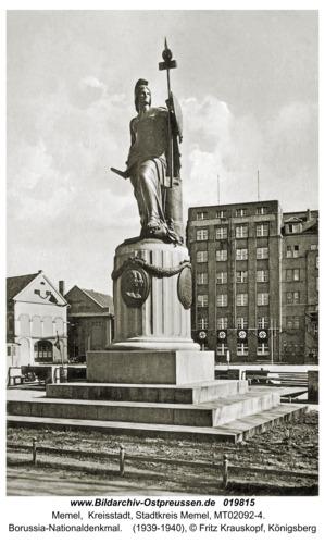 Memel, Borussia-Nationaldenkmal