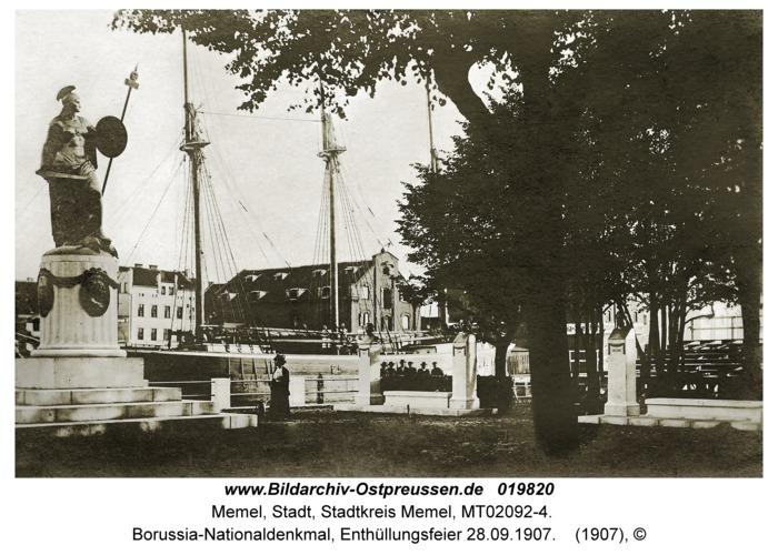 Memel, Borussia-Nationaldenkmal, Enthüllungsfeier 28.09.1907