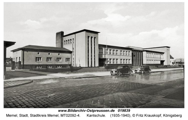 Memel, Kantschule