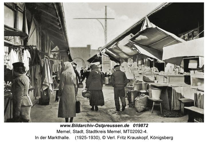 Memel, In der Markthalle
