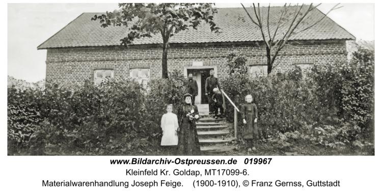 Kleinfeld Kr. Goldap, Materialwarenhandlung Joseph Feige