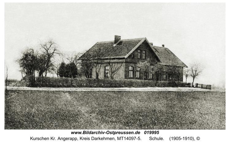 Kurschen Kr. Angerapp, Schule