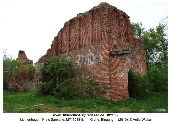 Lichtenhagen Kr. Samland, Kirche, Eingang