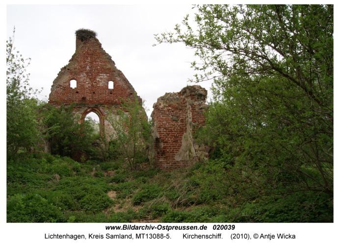 Lichtenhagen Kr. Samland, Kirchenschiff