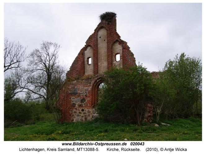 Lichtenhagen Kr. Samland, Kirche, Rückseite
