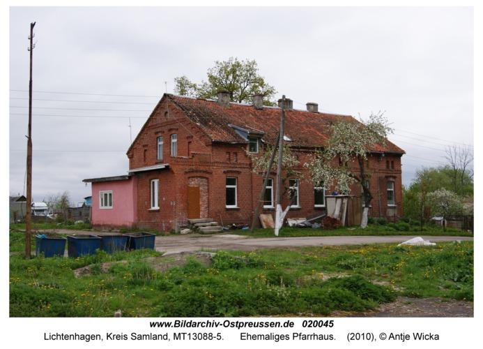Lichtenhagen Kr. Samland, Ehemaliges Pfarrhaus