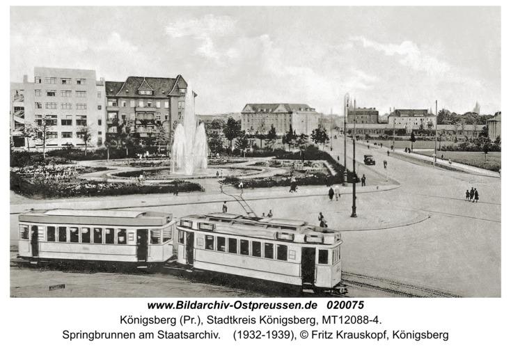 Königsberg, Springbrunnen am Staatsarchiv