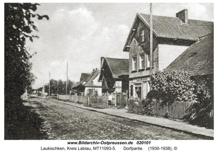 Laukischken, Dorfpartie