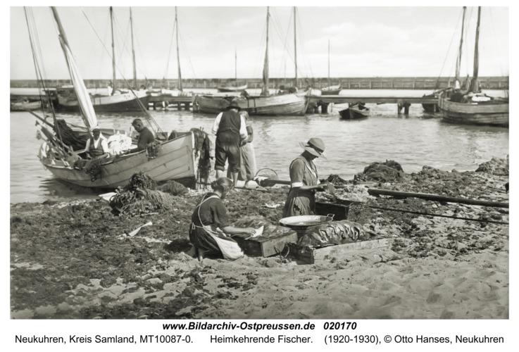 Neukuhren, Heimkehrende Fischer