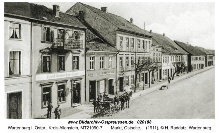 Wartenburg i. Ostpr., Markt, Ostseite