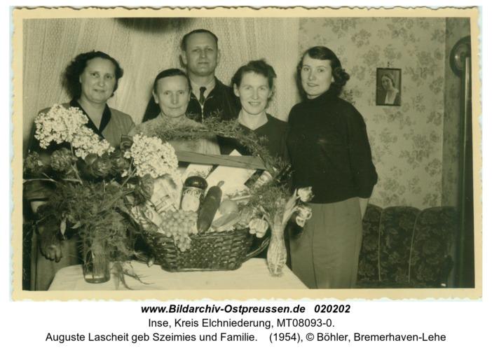 Inse, Auguste Lascheit geb Szeimies und Familie