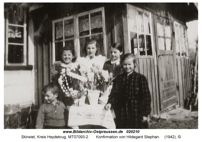 Skirwiet, Konfirmation von Hildegard Stephan