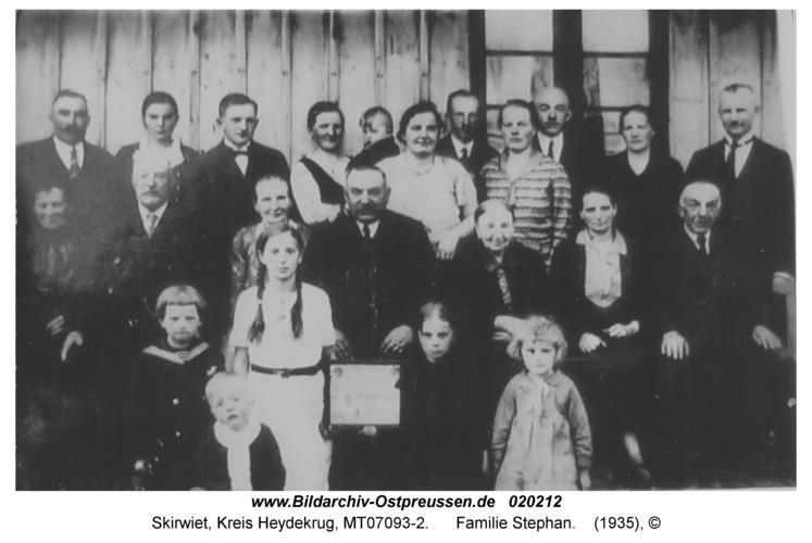 Skirwiet, Familie Stephan