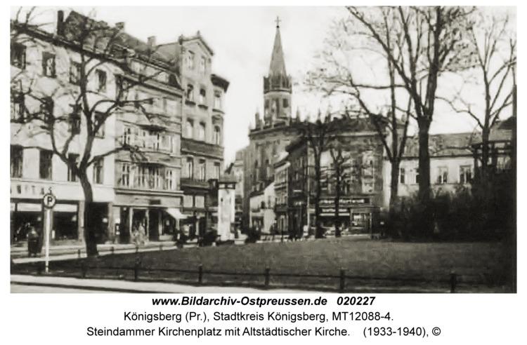 Königsberg, Steindammer Kirchenplatz mit Altstädtischer Kirche