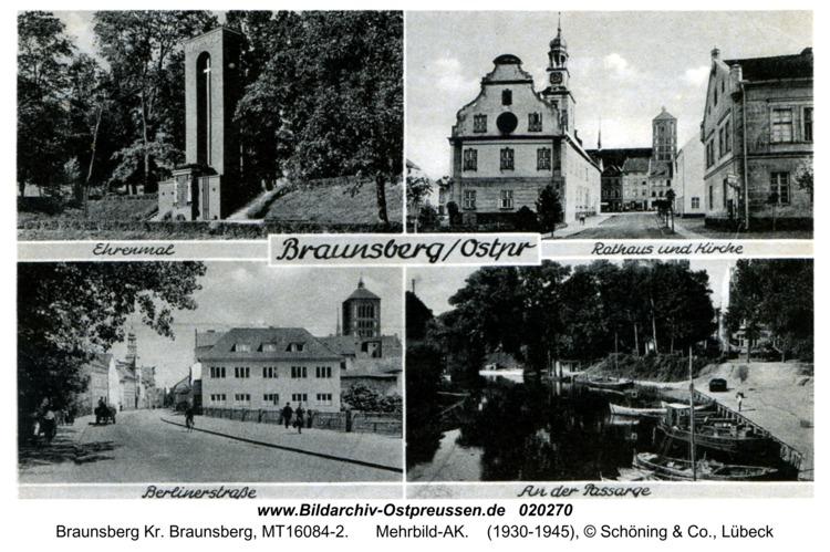 Braunsberg, Mehrbild-AK