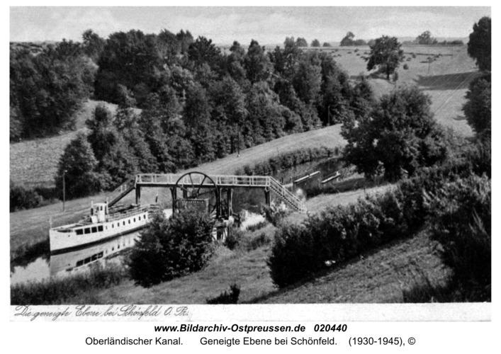 Oberlandkanal, Geneigte Ebene bei Schönfeld