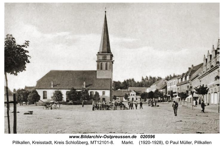 Pillkallen Kr. Schlossberg, Markt