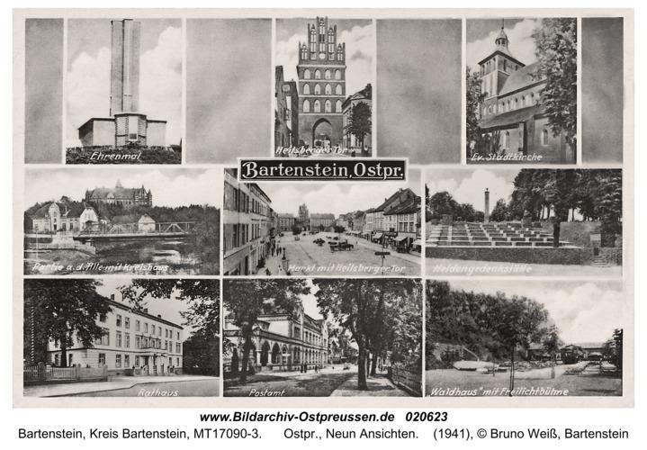 Bartenstein, Ostpr., Neun Ansichten
