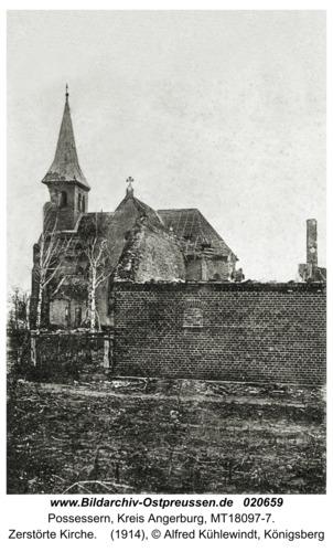 Possessern, Zerstörte Kirche