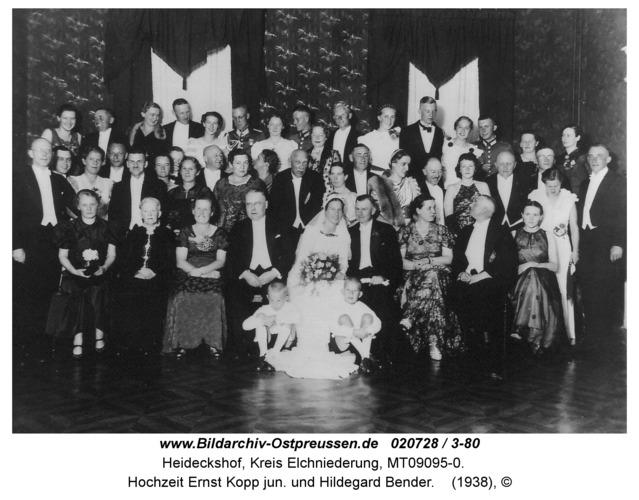 Heideckshof, Hochzeit Ernst Kopp jun. und Hildegard Bender