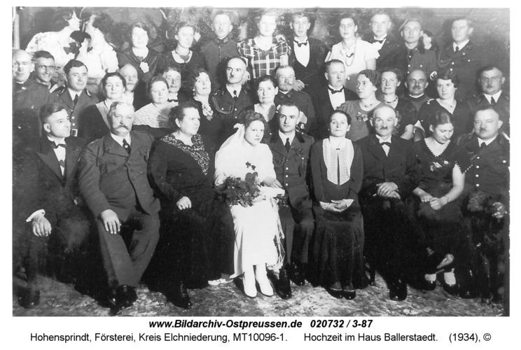 Hohensprindt, Hochzeit im Haus Ballerstaedt