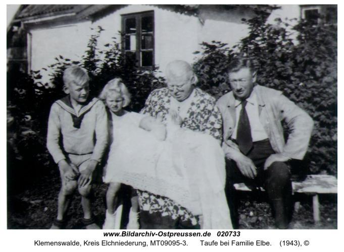 Klemenswalde, Taufe bei Familie Elbe