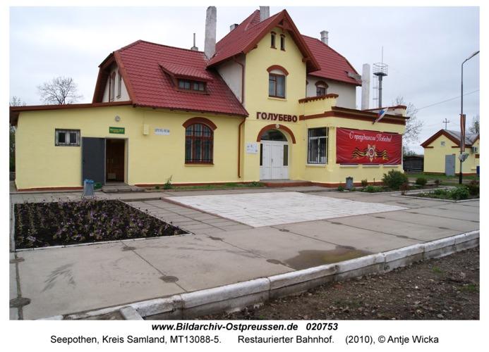 Seepothen Kr. Samland, Restaurierter Bahnhof