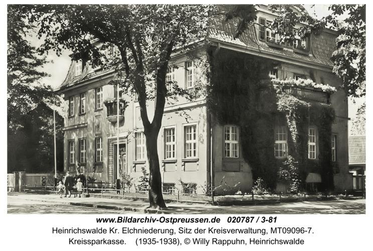 Heinrichswalde, Kreissparkasse