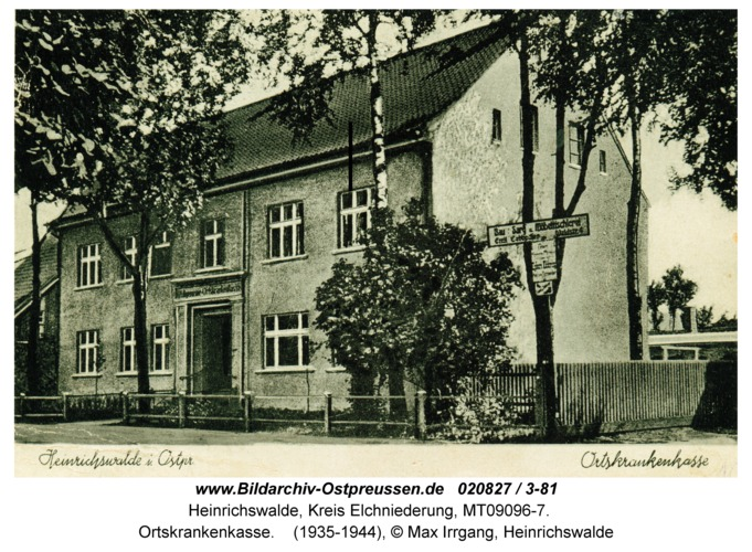Heinrichswalde, Ortskrankenkasse