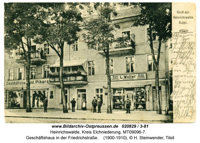 Heinrichswalde, Geschäftshaus in der Friedrichstraße
