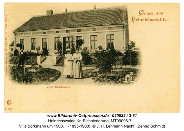 Heinrichswalde, Villa Borkmann um 1900