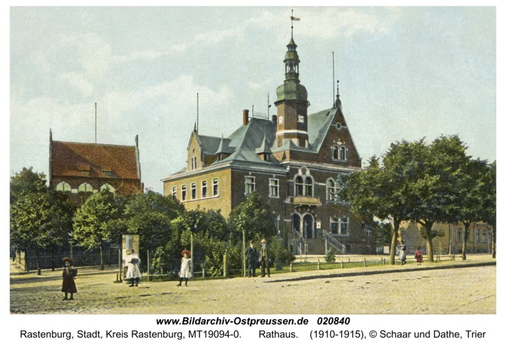 Rastenburg, Rathaus