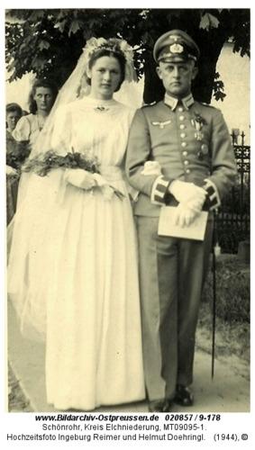 Schönrohr, Hochzeitsfoto Ingeburg Reimer und Helmut Doehringl