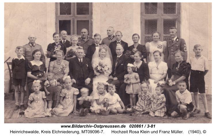 Heinrichswalde, Hochzeit Rosa Klein und Franz Müller