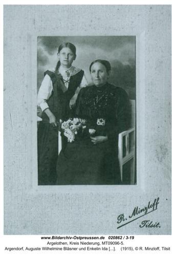 Argelothen, Argendorf, Auguste Wilhelmine Bläsner und Enkelin Ida Hoffmann