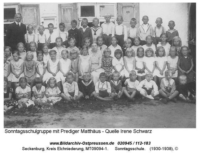 Seckenburg, Sonntagsschule