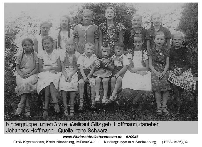 Groß Kryszahnen, Kindergruppe aus Seckenburg