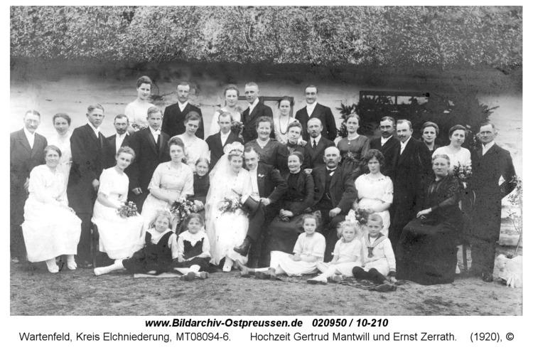 Wartenfeld, Hochzeit Gertrud Mantwill und Ernst Zerrath