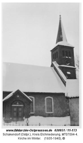 Schakendorf, Kirche im Winter